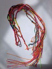 6 Colourful Handmade Braided Thread Friendship Bracelets Ankle Woven Wristband
