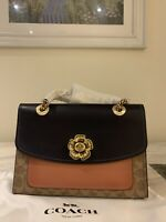 New Coach Leather PARKER crossbody bag shoulder handbag SIGNATURE Bag RRP£350