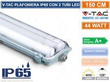 V-TAC VT-15022 TUBO LED PLAFONIERA 2X22W LAMPADINA 150CM IMPERMEABILE 6388 6400