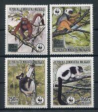 Madagaskar 1110/13 postfrisch / WWF - Lemuren ............................1/3810