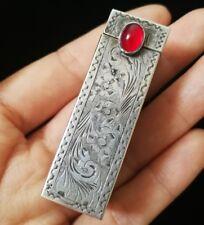 Porte rouge à lèvre art nouveau ciselé en argent massif