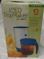 Mr Coffee Iced Tea Maker TM39P 3 Quart Original Box Auto Shut Off