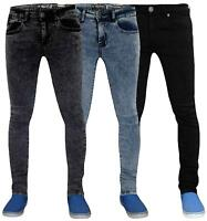 Men Super Stretch Skinny Jeans Slim Fit Denim Pants Trousers Bottoms Sizes 30-38