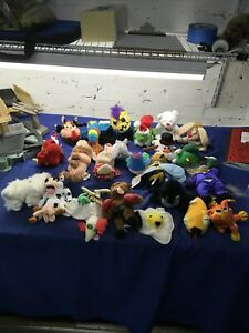 Huge (23) Meanies Plush Lot MOST WITH TAGS