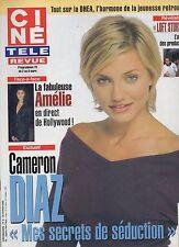 CINE REVUE 2002 N°9 cameron diaz audrey tautou jean lefebvre muriel robin