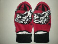 GEORGIA BULLDOGS MITTENS HANDCRAFTED womens UGA DAWGS fleece winter #2 last pair