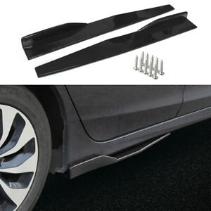 2X Side Skirt Extensions Rocker Panel For Honda Civic Accord Si Type-R 10th Gen