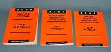 2000 Jeep Wrangler Factory Service Shop Repair Manual Lot of 3 OEM