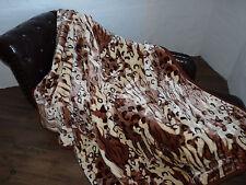 XXL KUSCHELDECKE WOHNDECKE Tagesdecke Decke Tiger - Design hell  200x240cm