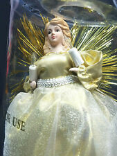 Angel Christmas Tree Topper With Ceramic Head