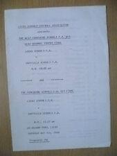1990 Beau Brummel Trophy FINAL, Under 13 - LEEDS SCHOOL v SHEFFIELD SCHOOL