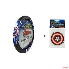 New Marvel Captain America Shield Car Truck Steering Wheel Cover & Air Freshener