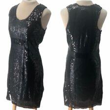 Max Studio MSSP Sequin Mini Dress Black L Large