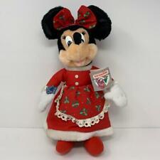 """Disney Applause Christmas Plush Mrs. Minnie Claus 17"""" Original Tag 21131 EUC"""