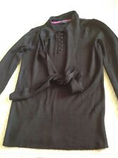 BETTY JACKSON - LADIES DESIGNER - SIZE 8 - BLACK - LONG SLEEVE TOP excellent con