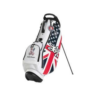 Psycho Bunny Golf A/A FLAG SPORT ST PBMG0FC3 STAND CADDIE BAG White 5way top