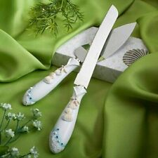 Starfish seashells Cake Server Knife Serving Set Beach Wedding