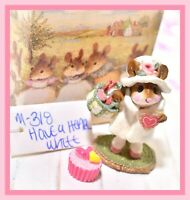 ❤️Wee Forest Folk M-318 Have a Heart White Valentine's Day Winter Retired WFF❤️