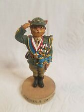 "1998 The Ertl Company "" Gen George Catton "" The Cat Hall Of Fame Figurine"