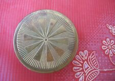 """Vintage Du Barry Gold Tone Rouge Compact, """"Bloom"""". Made in Usa. Used."""