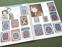 """SIGNED """"EMBLEMS OF HONOR INFANTRY DIVS VOLUME 1"""" US WW1 WW2 PATCH REFERENCE BOOK"""