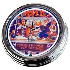 "N-0534 Horloge Murale "" Flipper Popeye Bally 1994 "" Déco Néon Salon Jeu Salle"