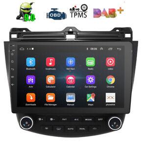 "For Honda Accord 7 2003-07 10"" Android Car Stereo Radio GPS WIFI SAT NAV DAB BT"