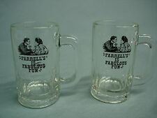 2 Vintage FARRELLS ICE CREAM Glass ROOT BEER MUGS Mint !