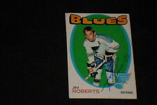 JIM ROBERTS 1971-72 TOPPS  SIGNED AUTOGRAPHED CARD #116 BLUES