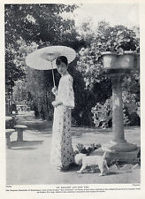 BICHON FRISE AND CHINESE EMPRESS LOVELY ORIGINAL DOG PRINT PAGE FROM 1934