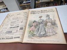 ALBUM LA MODE NATIONALE GRAVURES COULEURS ANNEE 1899 TBE +++