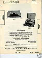 Reelest C1A Tape Recorders-Sams PhotoFact Docs