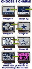 Dallas Cowboys Custom Italian Charm, Cowboys Girl Charms, Choose!