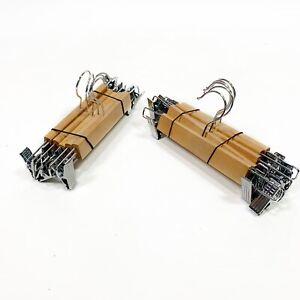 High-Grade Wooden Pants Hangers with Metal Clips 10 Pack Grip Clip Pants Hanger