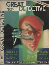Vintage Pulp Magazine~GREAT DETECTIVE~August 1934 Norvell Page/Fred C. Painton+