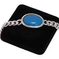 925 Sterling Silver Firoza turquoise Bracelet ~ Boys / Men