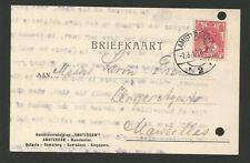 Pays-Bas Nederland 1910 timbre sur carte postale oblit. Amsterdam /L2219