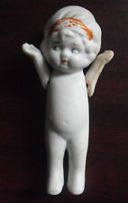 """Vintage 1930s Japan Bisque Girl Doll Figurine 3 1/2"""" Tall"""