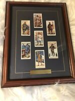 7 NICELY FRAMED CIGARETTE CARDS HISTORY OF NAVAL DRESS.(1930)