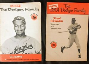 Two Vintage Union Oil 76 Dodgers booklets: Tommy Davis AND Frank Howard