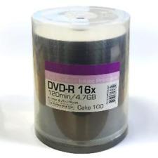 Ritek 'Excellence Series' Blank DVD-R 16x White Full Face Inkjet Print Pod 100