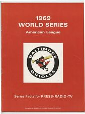 1969 World Series Baltimore Orioles Media Guide - EX