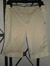 "Glorida Vanderbilt Light Tan Bermuda Walking Shorts Womens 5 Pocket Size 10 32""W"