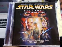 JOHN WILLIAMS - STAR WARS EPISODE I: THE PHANTOM MENACE SOUNDTRACK- 1999 SONY CD