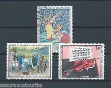TABLEAUX - 1965 YT 1457 à 1459 - TIMBRES OBLITÉRÉS