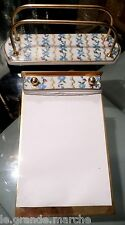 LIMOGES PARIS FRANCE FOR HORCHOW HAND PAINTED MAIL & NOTE PAD HOLDER