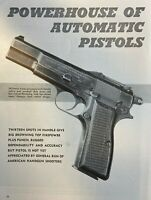 1957 Browning Hi-Power Automatic Pistol illustrated