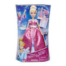 Disney Princess Doll Cinderella Fashion Reveal Pink Dress   Brand New Boxed