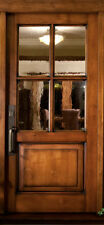 "4 LITE VAIL STYLE KNOTTY ALDER ENTRY DOOR 36"" x 80"""