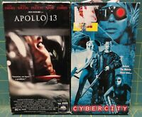 Lot of 2 VHS Tapes  Cybercity and Apollo 13